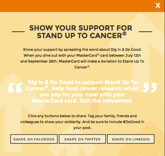 MasterCard Dig In & Do Good Show Support #MC