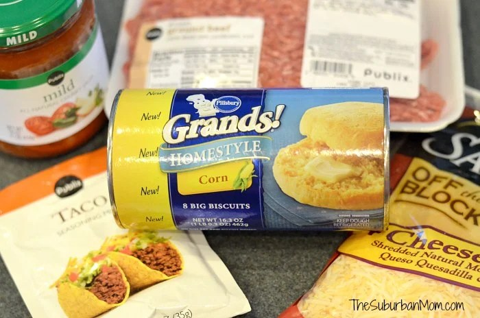 Pillsbury Grands Homestyle Corn Biscuits Taco Melts