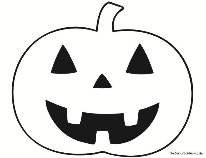 Pumpkin Outline Template Halloween