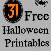 31 Free Halloween Printables