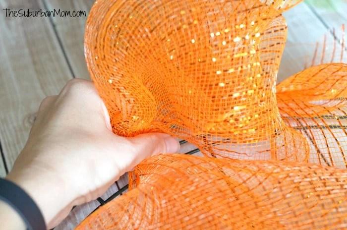 Deco Mesh Wreath Craft Tutorial