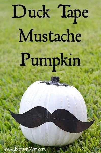 Duck Tape Mustache Pumpkin How To