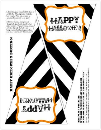 photo regarding Happy Halloween Banner Printable titled 31 Absolutely free Halloween Printables - TheSuburbanMom