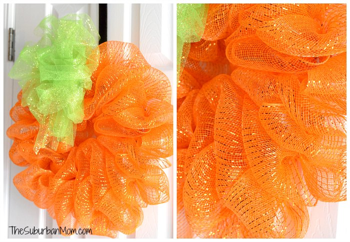Halloween Deco Mesh Pumpkin Wreath