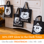 Halloween Glow in the Dark Treat Bag