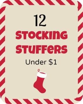 12 Stocking Stuffers Under $1