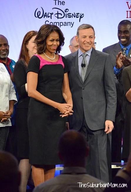 Michelle Obama Bob Iger Disney
