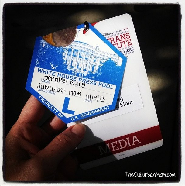 White House Press Pool Badge