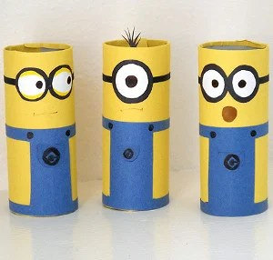 Cardboard Tube Minions Craft