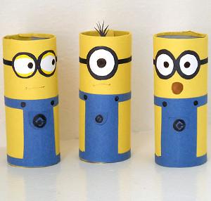 Cardboard Tube Minions Craft