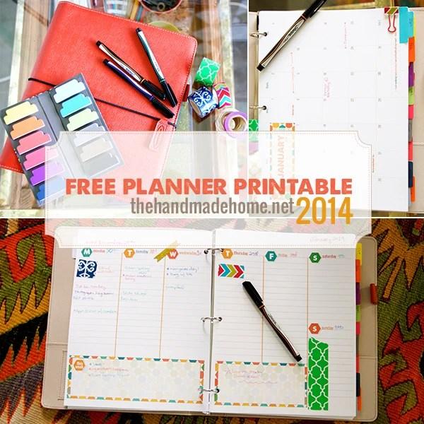 Free Planner Printable 2014