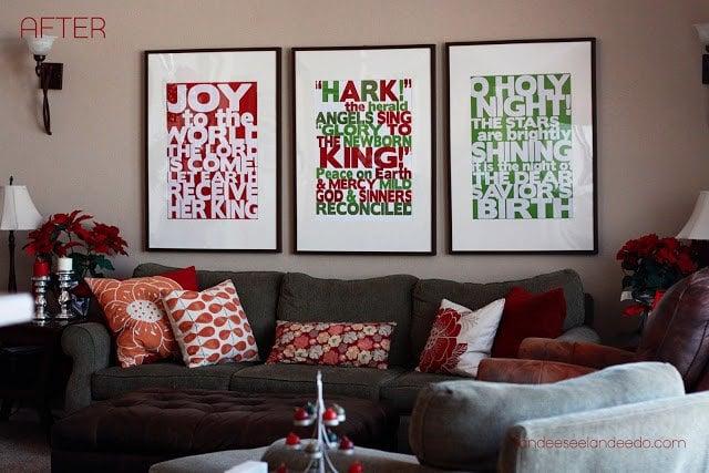Subway Art Christmas Free Printables