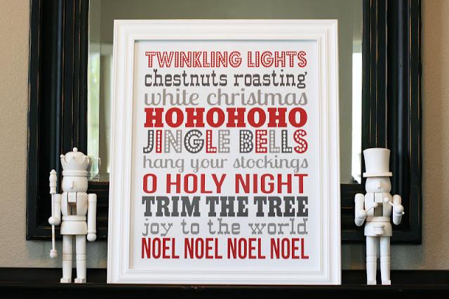 Subway Art Christmas Printable