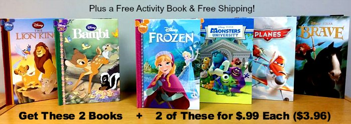 Disney Books Frozen Monsters University Planes