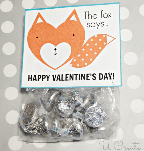 Fox Valentine Printable