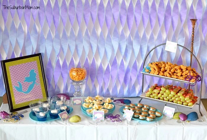 Little Mermaid Ariel Birthday Party Decorations