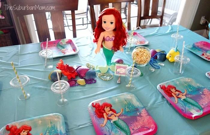 Little Mermaid Ariel Birthday Party Table Decoration