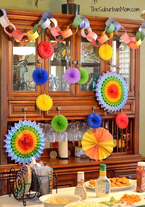 Rainbow Loom Birthday Party Decorations