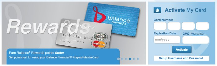 Balance Financial Prepaid MasterCard from Walgreens