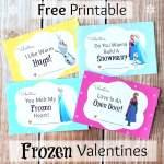 FREE Printable Disney Frozen Valentine's Day Cards