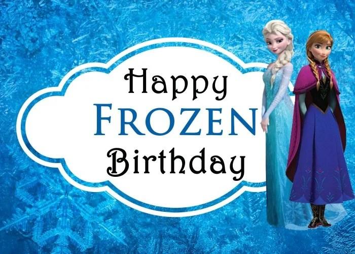Frozen Birthday Card Anna Elsa small