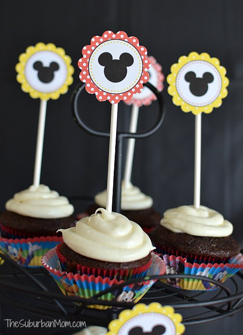 Mickey Mouse Cupcake Toppers Printable