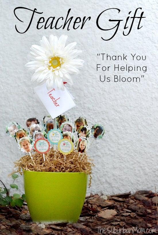 Thank You For Helping Us Bloom Diy Class Teacher Gift Thesuburbanmom