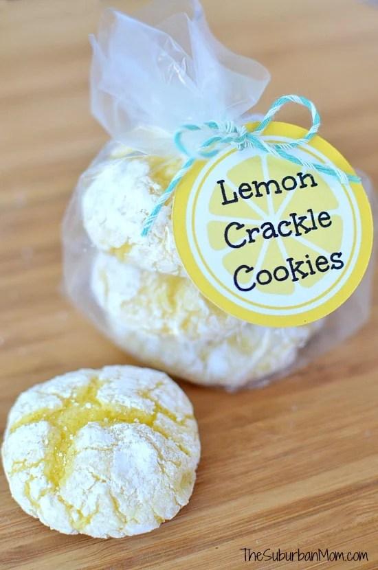 Lemon Crackle Cookies Printable Tag