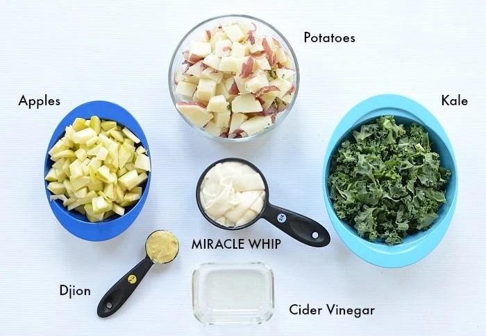 Miracle Whip Kale Apple Potato Salad