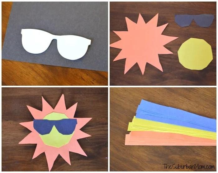 Sun Kids Craft Template