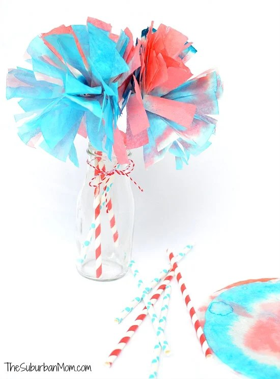 4th of July Coffee Filter Pom Poms