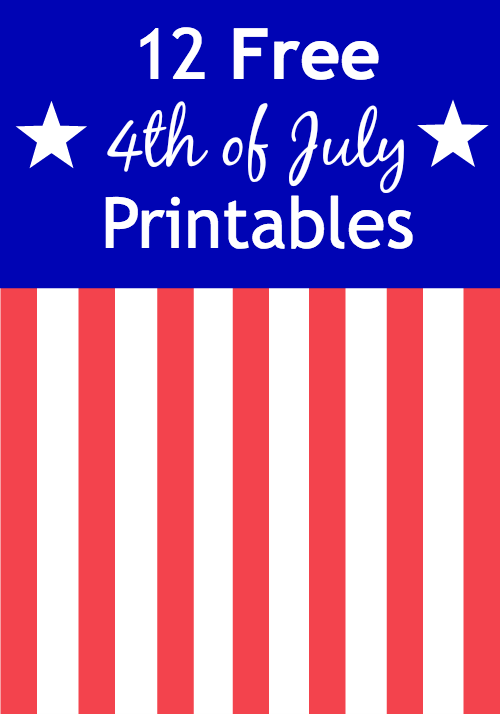 graphic relating to Free Printable Signs identify 12 Free of charge 4th of July Printables ~ Indications, Online games, Banners