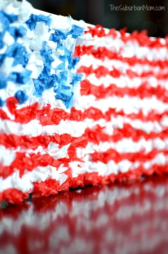 4th of July Flag Kids Craft