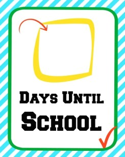 First Day of School Countdown 1