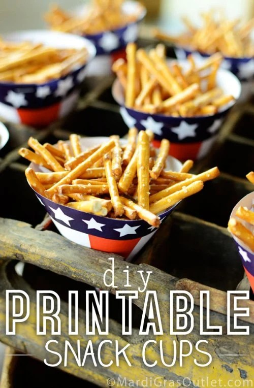 Free Printable 4th of July Snack Cups