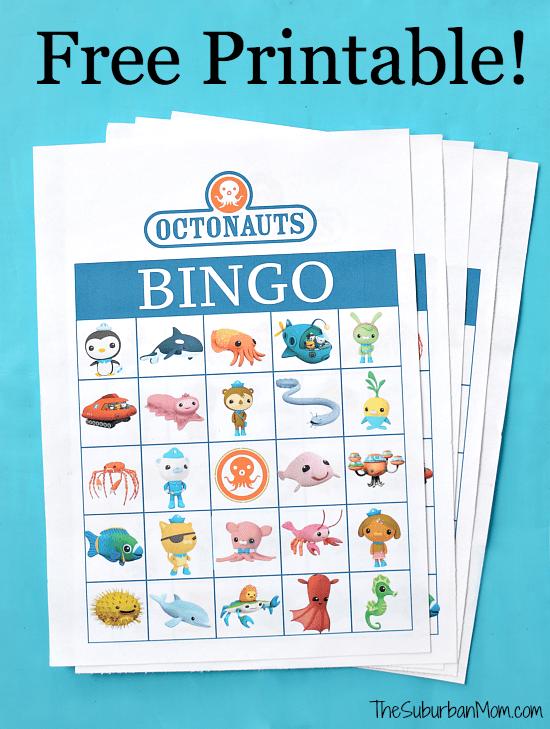 octonauts birthday party free printable bingo game thesuburbanmom. Black Bedroom Furniture Sets. Home Design Ideas
