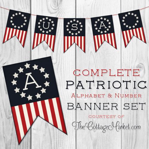 Free Printable Patriotic Banner USA