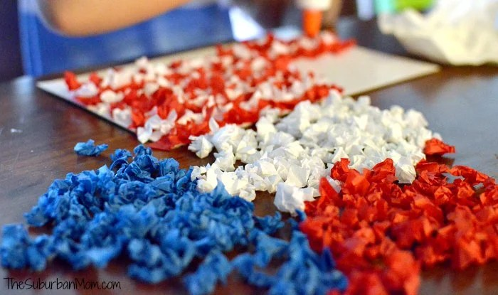 Kids Craft 4th of July Flag