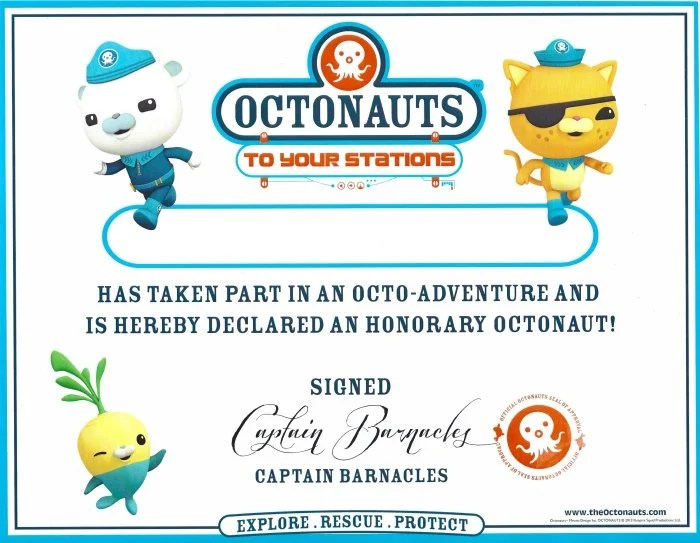 Octonauts Certificate Free Printable