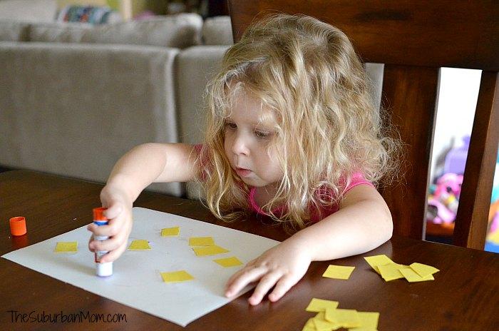 Toddler Glue Craft