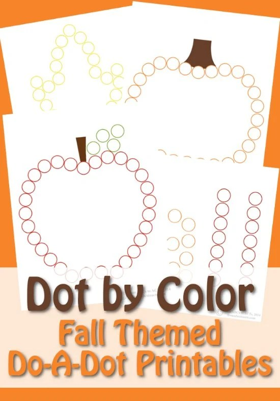 Fall Do-A-Dot Color Pages