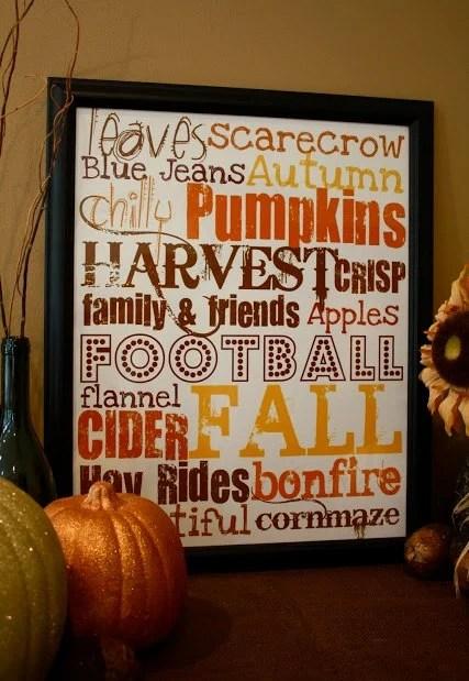 17 Free Fall Printable Signs