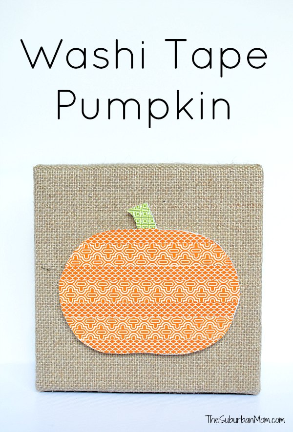 Washi Tape Pumpkin Craft