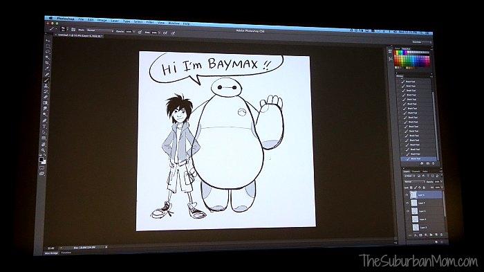 Baymax Hiro Drawing