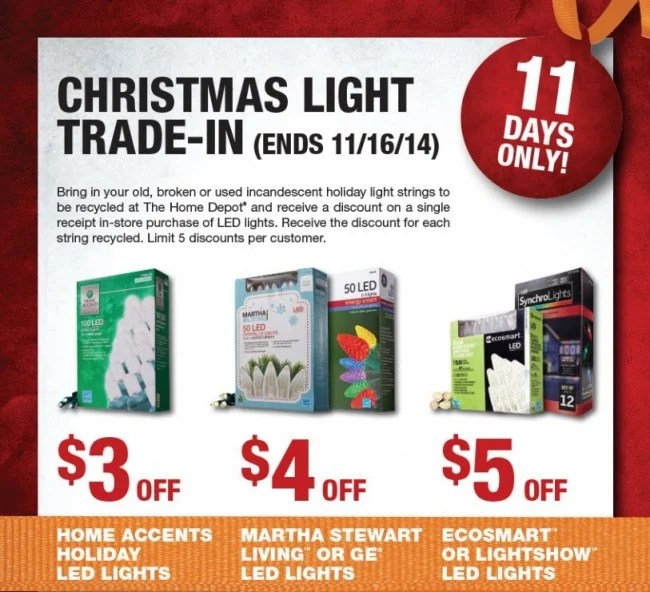 Recycle Christmas Lights Home Depot