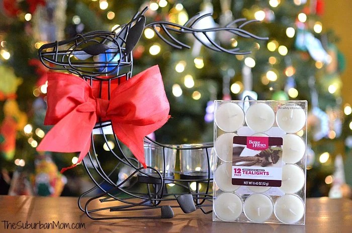 BHG Reindeer Candle Holder Gift Idea