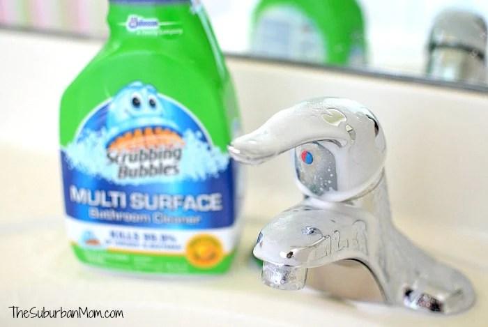 Scrubbing Bubbles Toothpaste Scum