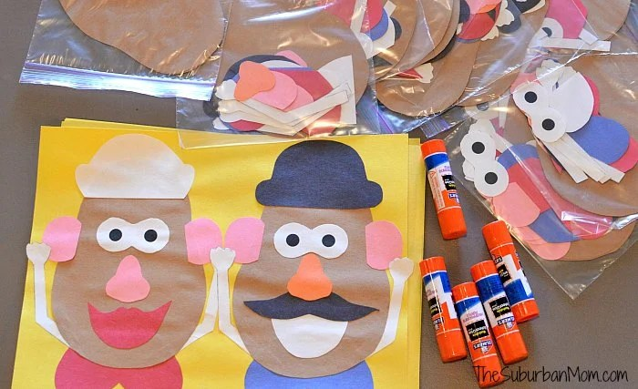 graphic regarding Mr Potato Head Printable Parts titled Mr And Mrs Potato Intellect Craft For A Toy Tale Social gathering