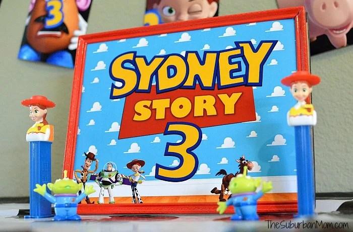 Toy Story Birthday Poster
