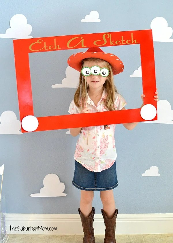 Toy Story Etch A Sketch Photobooth